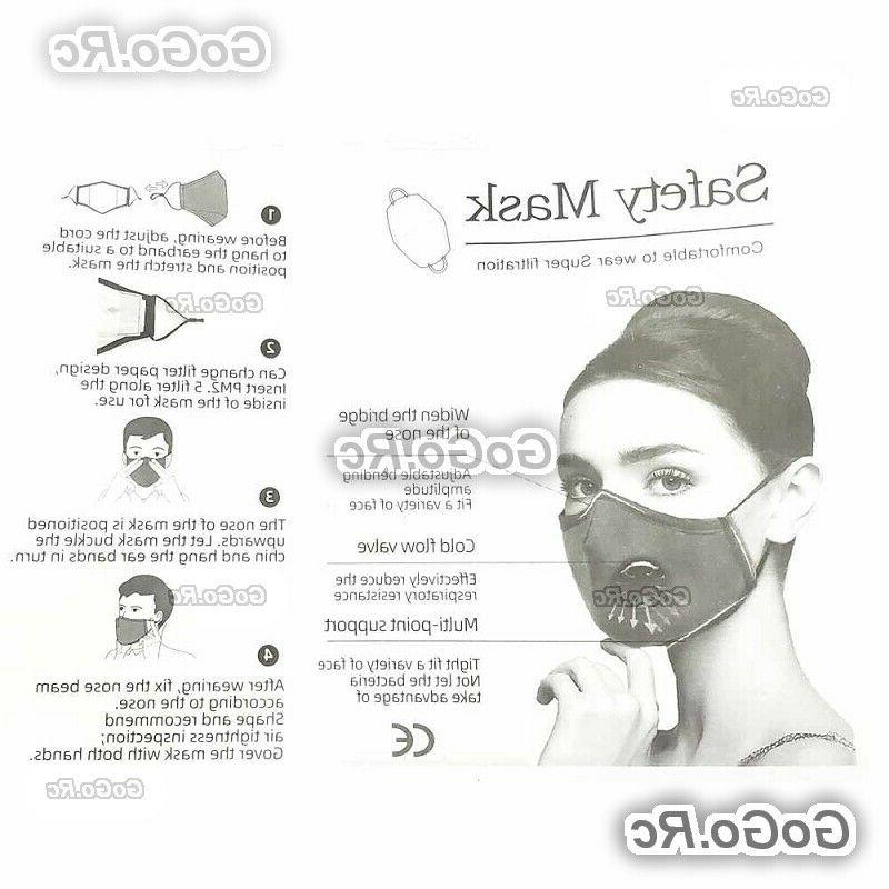 Reusable Ventilation Face Mask With 2 Filter