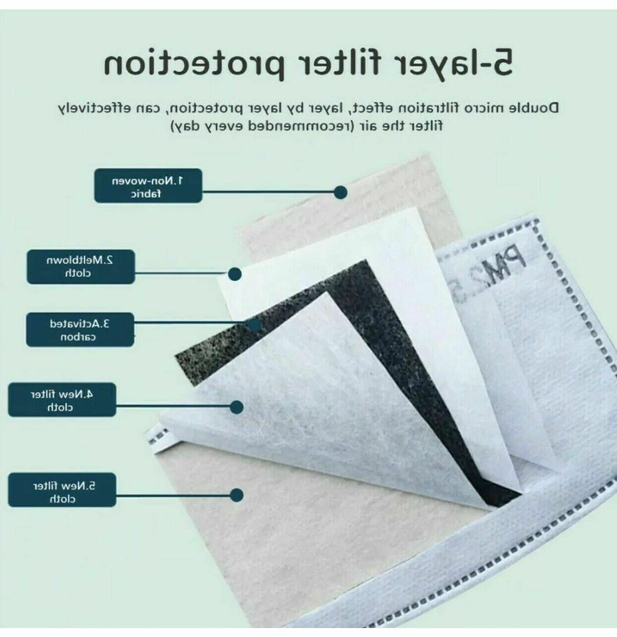 Reusable Cloth Cotton Mask Guard With PM2.5 Filters