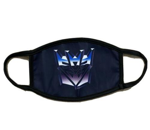 transformers face mask washable