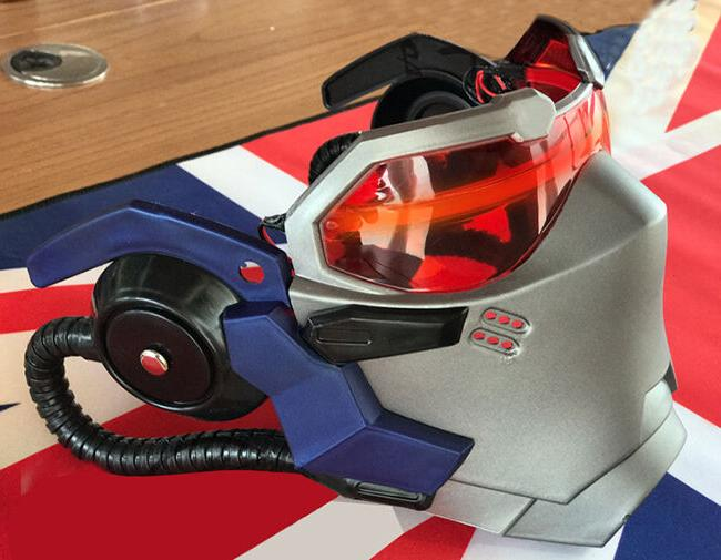 USA! Helmet Cosplay Props ABS LED Mask Without Battery