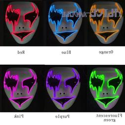 Light Up LED Scary Mask for Stitches Costume Halloween Rave