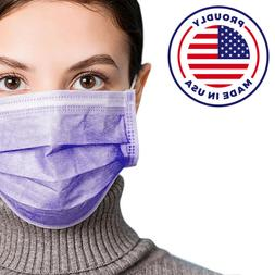 MADE IN USA Face Mask Mouth 50 PCS & Nose Protector Respirat