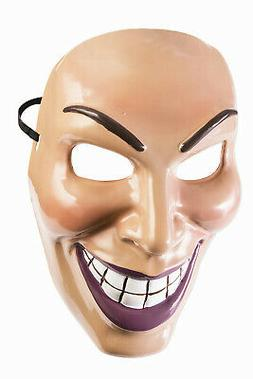 Male Evil Grin Mask Purge Half Costume Accessory PVC Mans Re