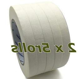 Masking Tape White, Pack of 10 Rolls, Each Roll 1/2-Inch x 6