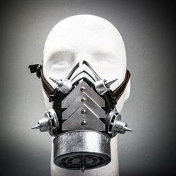 Men & Women Steampunk Burning Man Costume Half Face Gas Mask