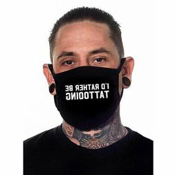 Sullen Men's I'd Rather Be Tattooing Face Cover Mask Black A