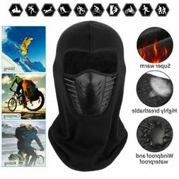 Men Women Balaclava Face Mask With Wind Hat Cap Winter Fleec