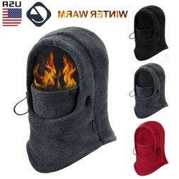 Mens Winter Warm Fleece Balaclava Thermal Motorcycle Ski Hat