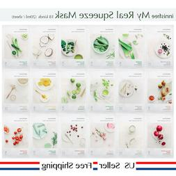 innisfree My real squeeze mask 18kinds  + Free Sample