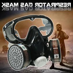 New Respirator Gas Mask Safety Chemical Anti-Dust Filter Mil