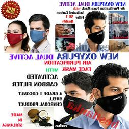Oxypura Air Purifying Face Mask with activated carbon filter