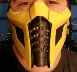 Painted Filtered Noob Saibot Ninja Face Mask for Cosplay & C