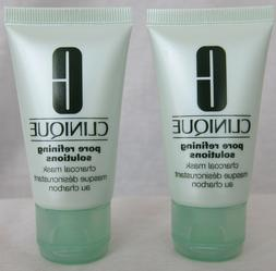 Clinique Pore Refining Solutions Charcoal Mask - Lot of 2 -