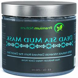 Premium Nature Dead Sea Mud Mask for Face and Body - 8 oz Me