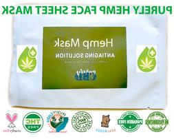 Pure Organic Hemp Seed Oil Face Sheet Mask For Wrinkle Relax