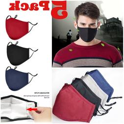 Reusable Washable Fashion Adult Face Protection Black Gray A