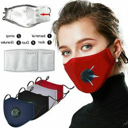 Reusable Washable Cloth Air Ventilation Port Face Mask With