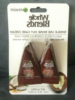 GARNIER RINSE OUT HAIR MASK CARE CREAM 2 PK WITH COCONUT OIL