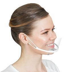 Spit Guard Mouth Cover Shield Open Face Mask for Restaurant