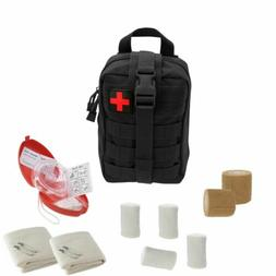 Tactical Emergency CPR Rescue Kit with MOLLE Pouch, CPR mask