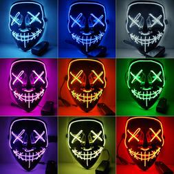 The Purge Rave Party Light Up Stitches Scary LED Mask Costum
