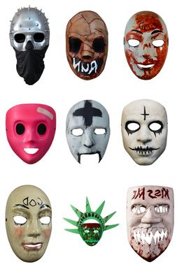 THE PURGE TV SERIES MOVIES ELECTION YEAR COSTUME FACE MASK T