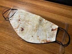 TORTILLA Funny Face Mask Double Layer Reusable Mouth Cover