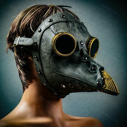 Steampunk Faux Leather Bubonic Plague Doctor Medieval Histor