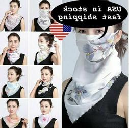Women's Reusable Face Mask Cover Scarf Washable Summer Outdo