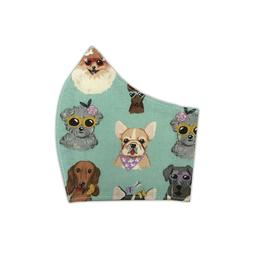 Women's Stylish Dogs Pups in Accessories Fitted Face Mask 1